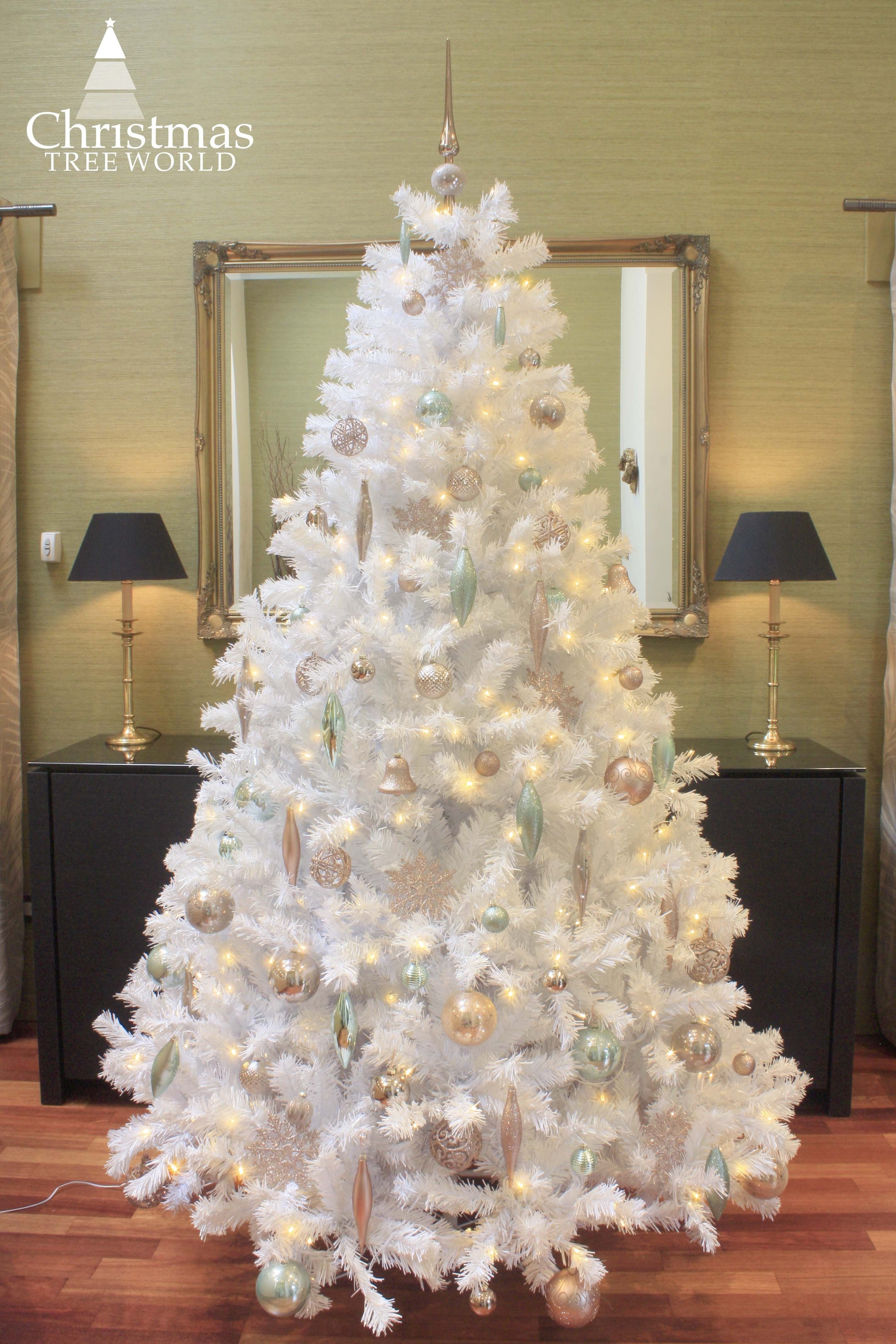 The Prelit Bianca Pine Tree with Warm White Lights (3ft