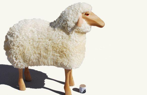 White Sheep Stool