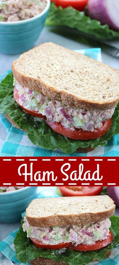 Salad Ham Salad - a great use for your leftover Holiday ham. Perfect for making sandwiches or wraps.Ham Salad - a great use for your leftover Holiday ham. Perfect for making sandwiches or wraps.