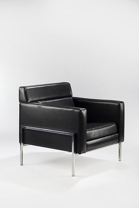 Pierre Paulin Armchairs Early 1960s Vinyl And Chromed Steel Thonet Ind Armchair Furniture Design