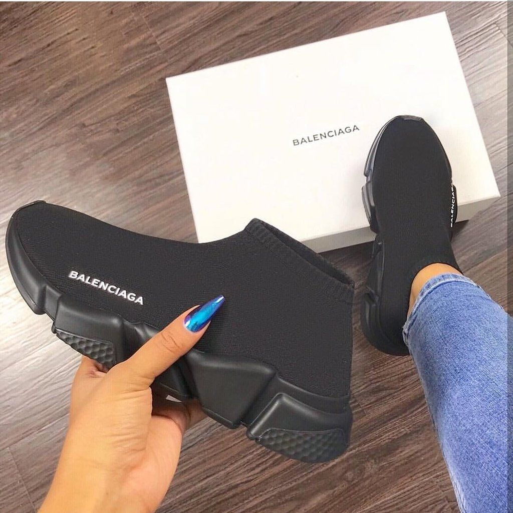 cheapest price united kingdom exclusive shoes Slip On Runners Blackout | Balenciaga shoes, Shoes, Sneakers
