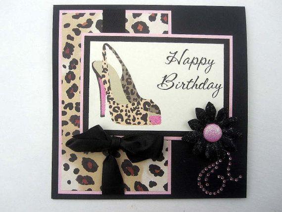 Leopard print Birthday card Sexy High Heel – Leopard Print Birthday Cards