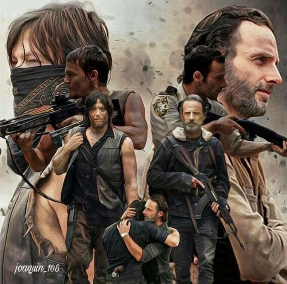 Rick Grimes And Daryl Dixon From Season 1 To Season 7 The