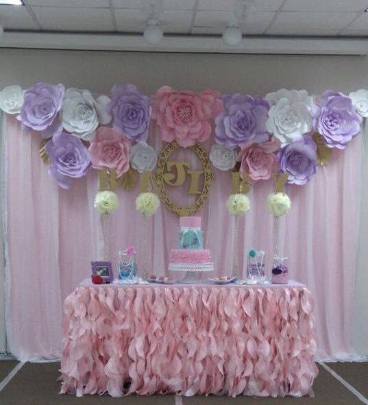 Decoraci n sencilla y hermosa para baby shower o - Decoracion para cumpleanos ...