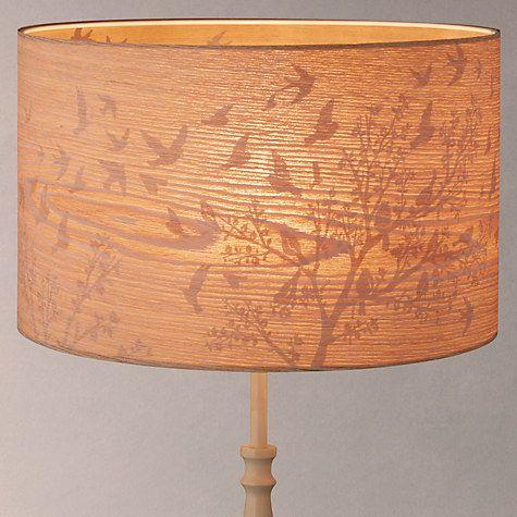 John lewis flock birds lampshade wood grey at john lewis