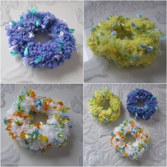 Crochet+Scrunchies+Girl's+Scrunchies+Hair+by+Crocheted4Kids #crochetscrunchies