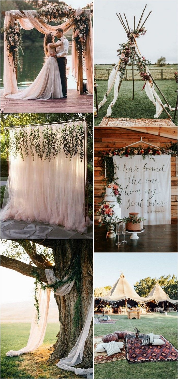 Wedding room decoration ideas 2018  Trending Boho Chic Wedding Ideas for   Boho wedding
