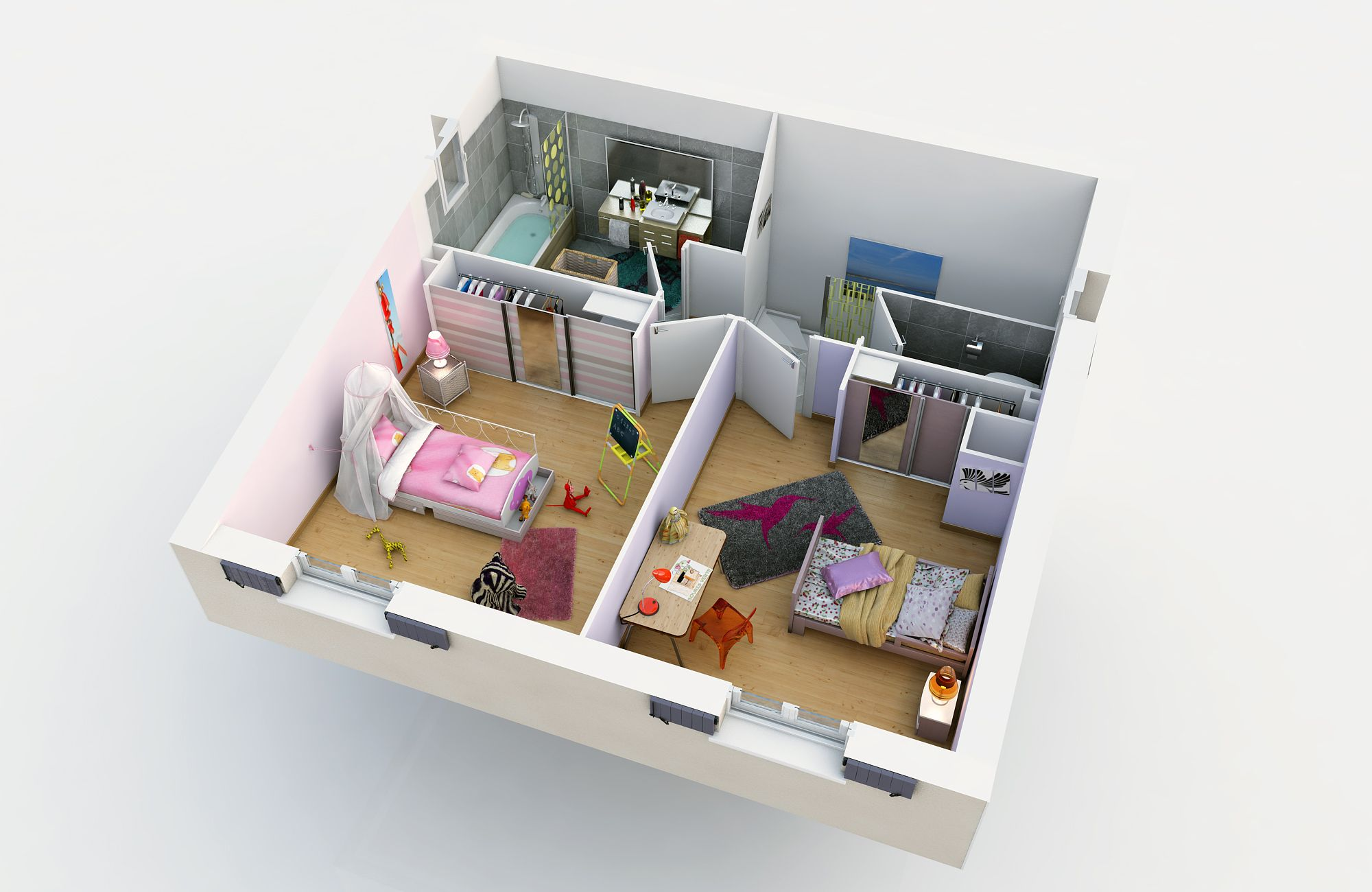 ALLIEL A étage (Villas Trident)