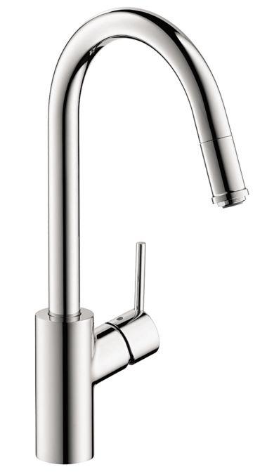 Talis S 1-Spray HighArc Kitchen Faucet, Pull-Down Laundry Meg