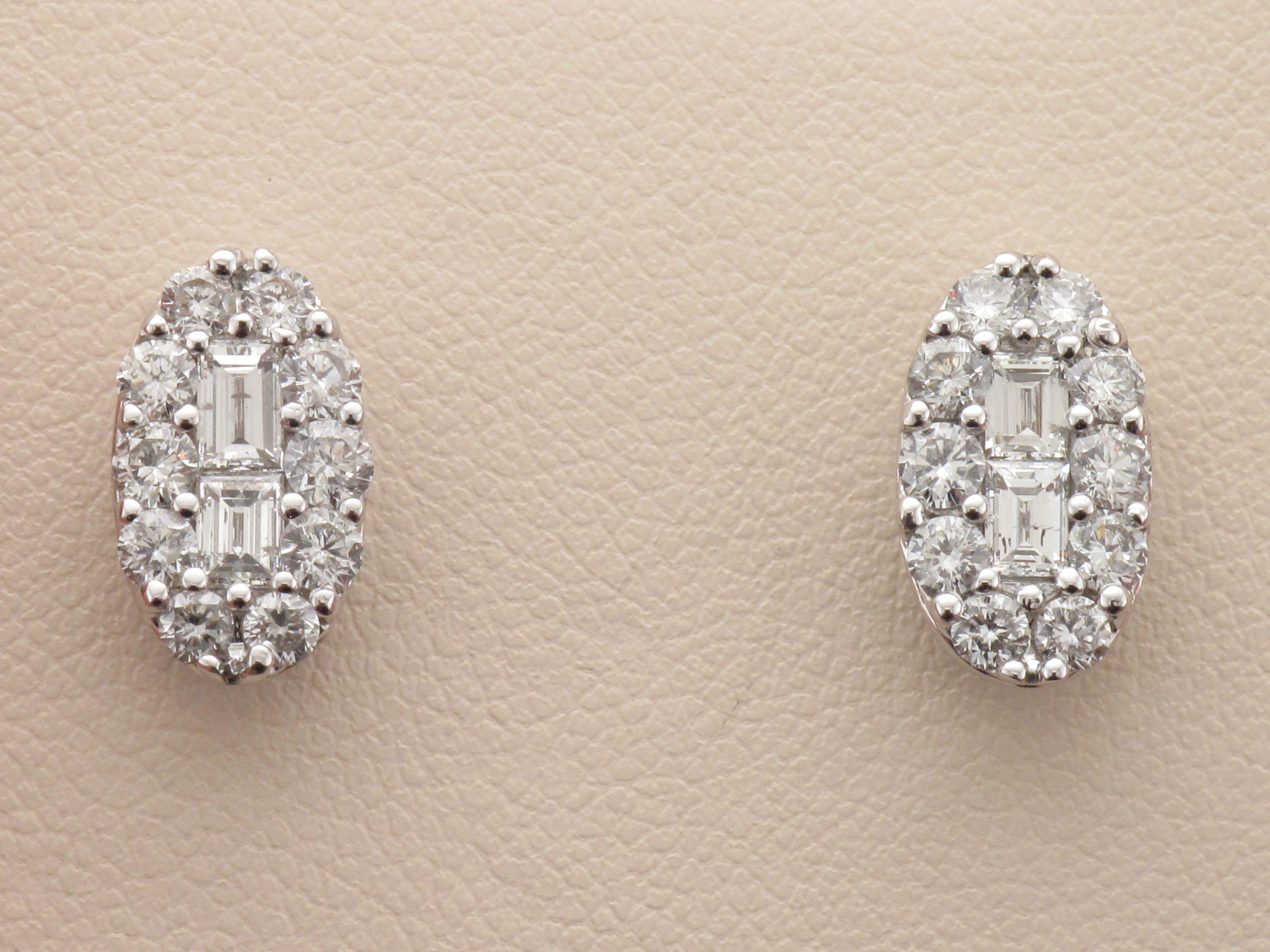 Beautiful Cluster Diamond Earrings