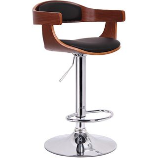 @Overstock.com - Garr Walnut and Black Modern Adjustable Bar Stool - This fashionable  sc 1 st  Pinterest & Overstock.com - Garr Walnut and Black Modern Adjustable Bar Stool ... islam-shia.org
