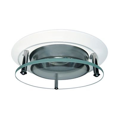 Elco lighting el2660 3 in round recessed lighting trim with elco lighting el2660 3 in round recessed lighting trim with suspended glass lens aloadofball Images