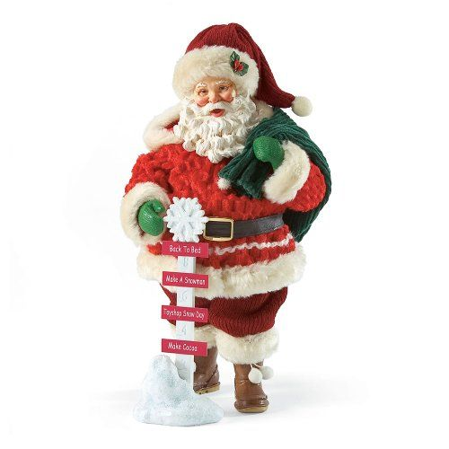 $54.99 Department 56 Possible Dreams Snow Day Santa, 11-1/2-Inch  From Department 56   Get it here: http://astore.amazon.com/ffiilliipp-20/detail/B00800XKCM/181-9540452-9402838