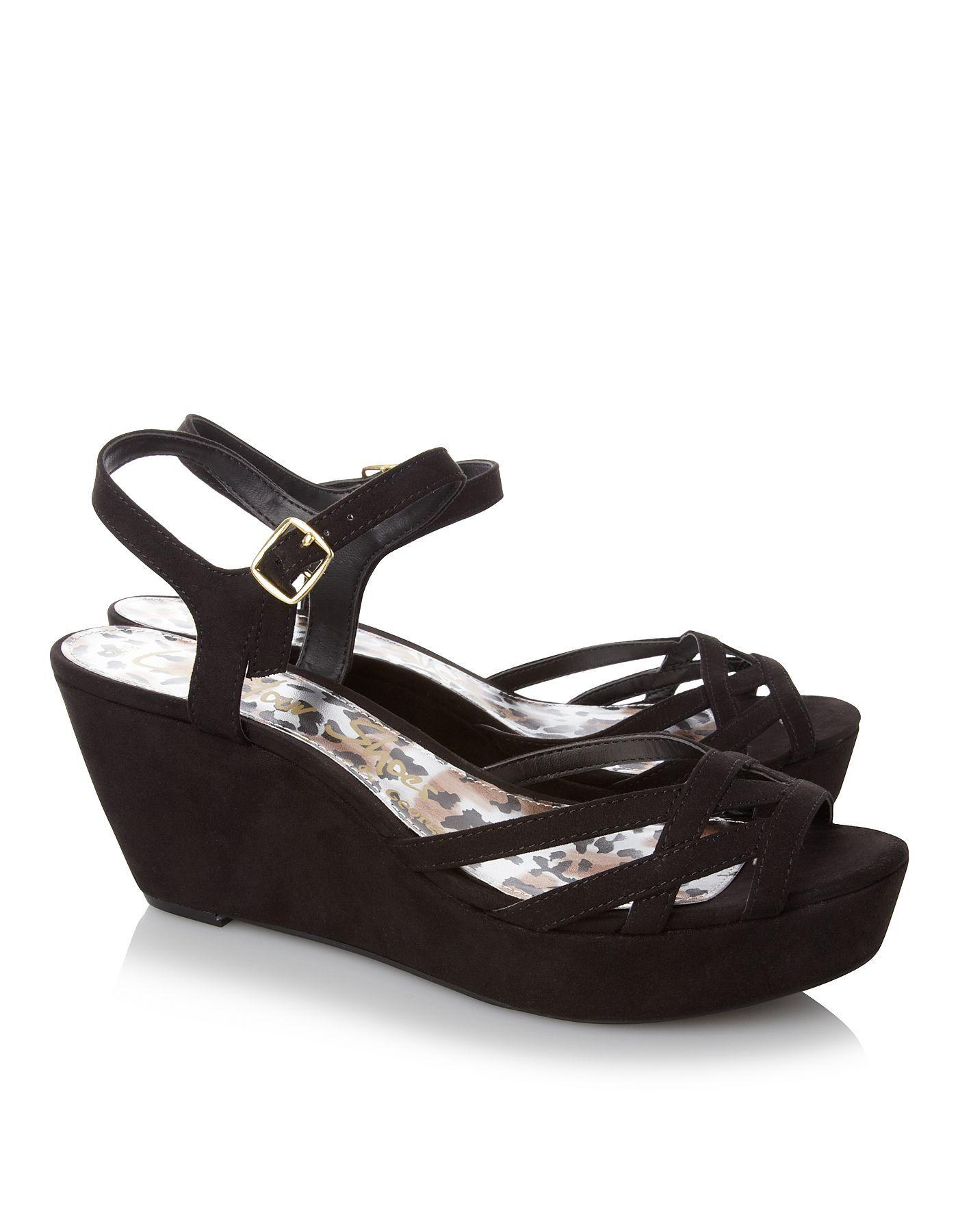 Black sandals asda - Wedged Sandal Women George At Asda