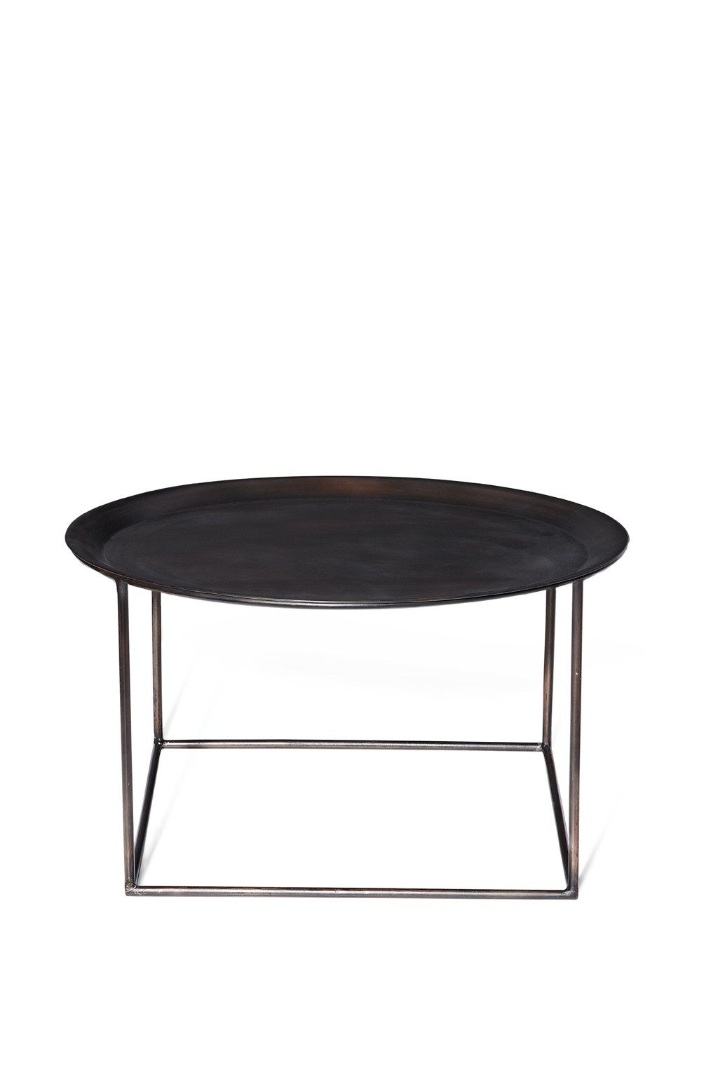 Round Steel Coffee Table Occasional Furniture French Connection