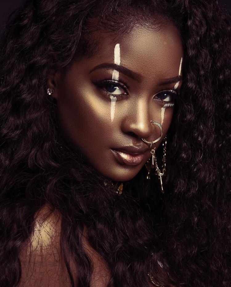 Beautiful Dark Skin Women