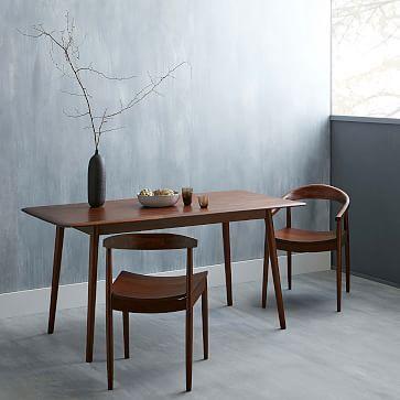 Mid Century Expandable Dining Table Walnut Mid Century Dining