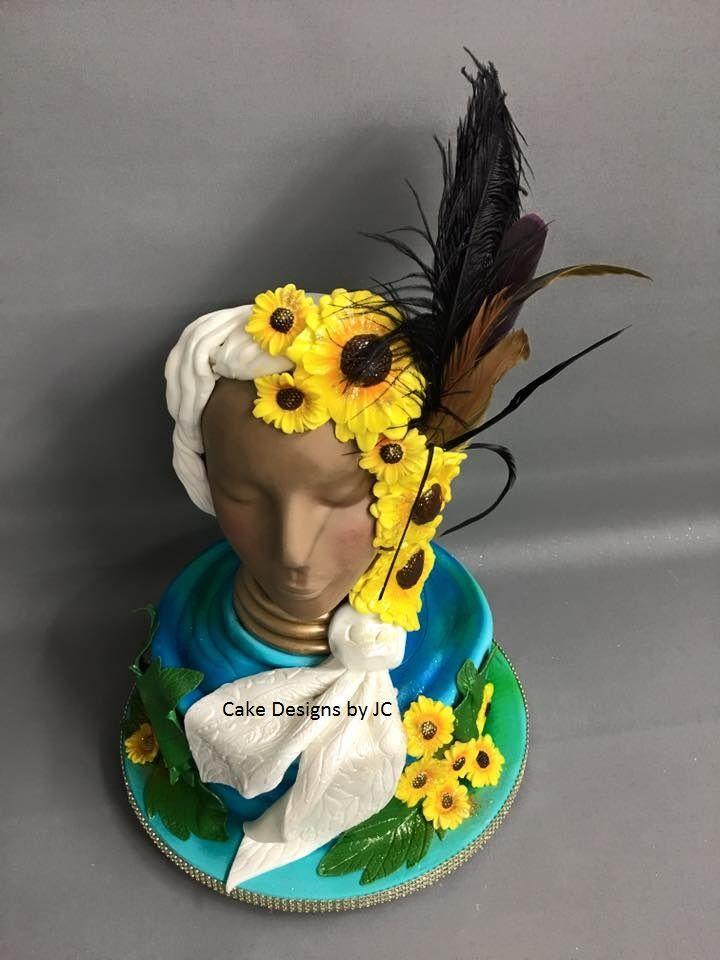 Yemaya sculture cake