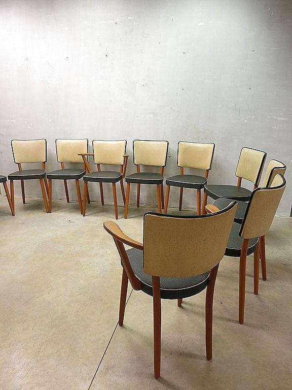 Partij fifties design vintage eetkamer stoelen dinner chairs retro ...