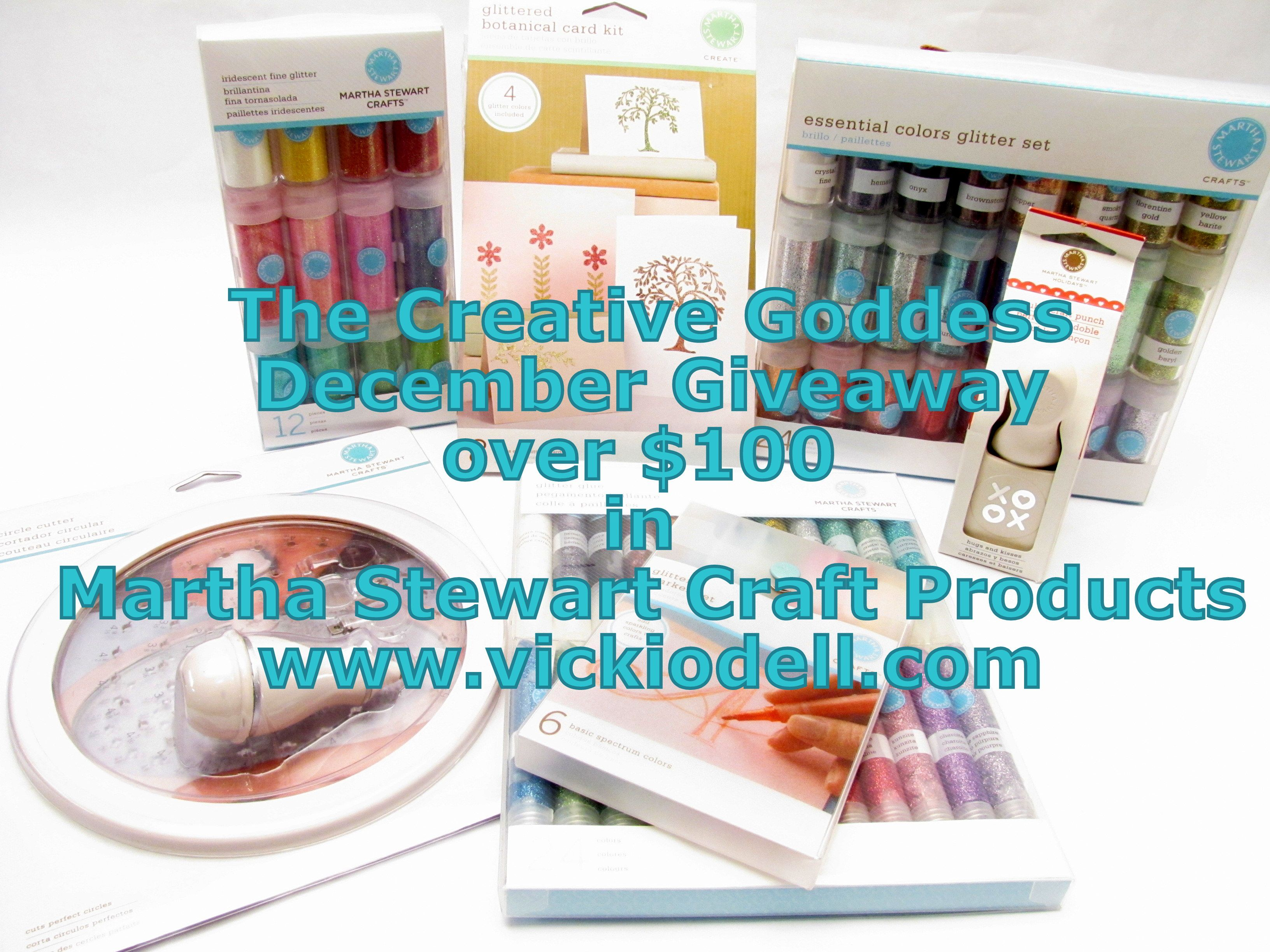 The Creative Goddess' December GIVEAWAY: Martha Stewart Craft Supplies