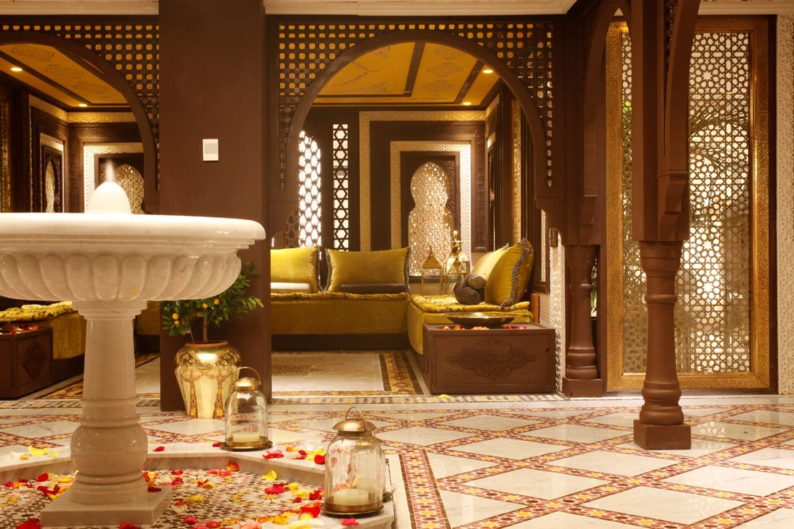 Moroccan Style Living Room | Glamorous Brown Moroccan Style Interior Design  Idea For Living Room .