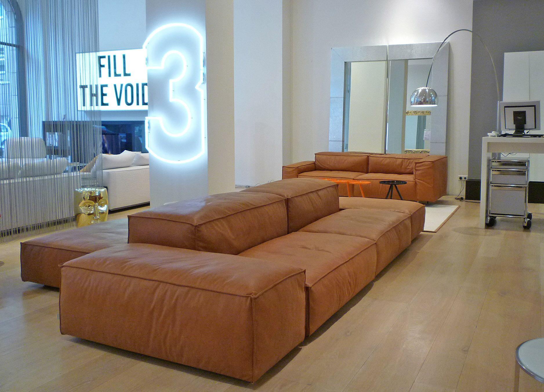 Sofa Extrasoft, Design Piero Lissoni in a beautiful showroom ...