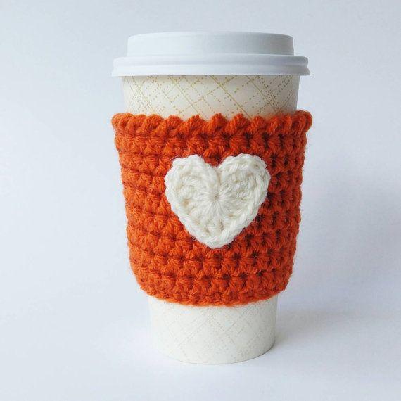 Pumpkin Spice Latte Coffee Cozy Crochet Coffee Cup by NandysNook