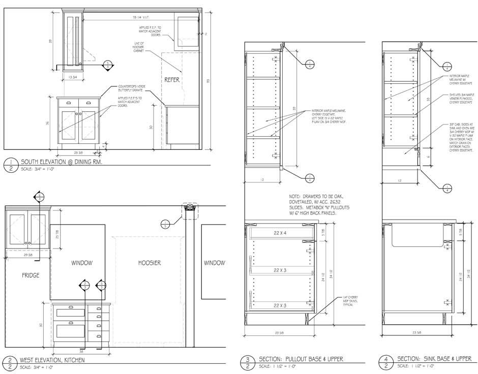 Cabinet sections drawing google search autocad for Kitchen cabinet section