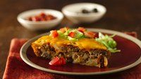 Gluten-Free Impossibly Easy Cheeseburger Pie #impossiblecheeseburgerpie