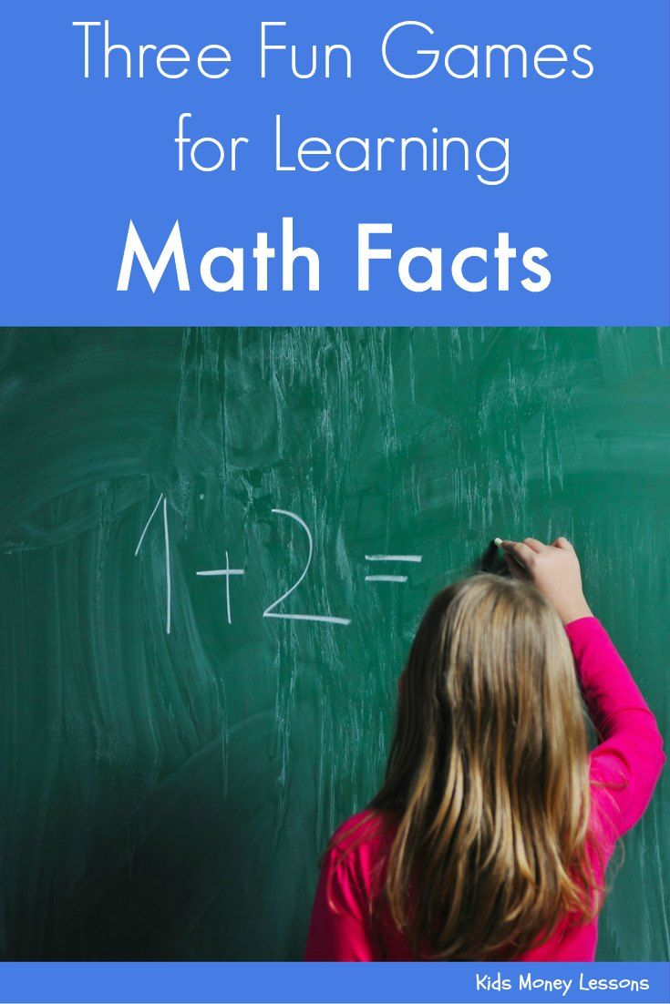 Math Facts Games: Three Games for Learning Math Facts   Pinterest ...