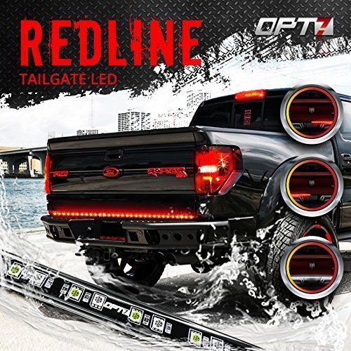 Led Tailgate Bar Light Brake Light Bumper Backup Lights Red Screw Install Less Led Tailgate Light Bar Tailgate Bar Truck Lights
