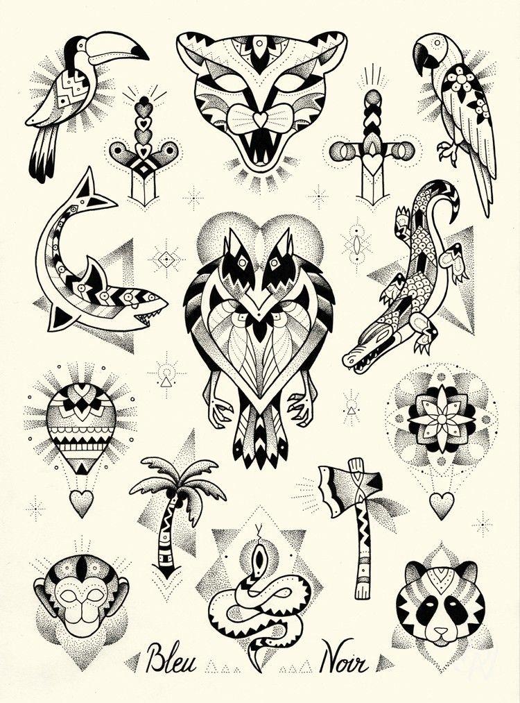 Category Archive For Violette Bleu Noir Tattoo Tatouage Flash Tatouage Old School Homme