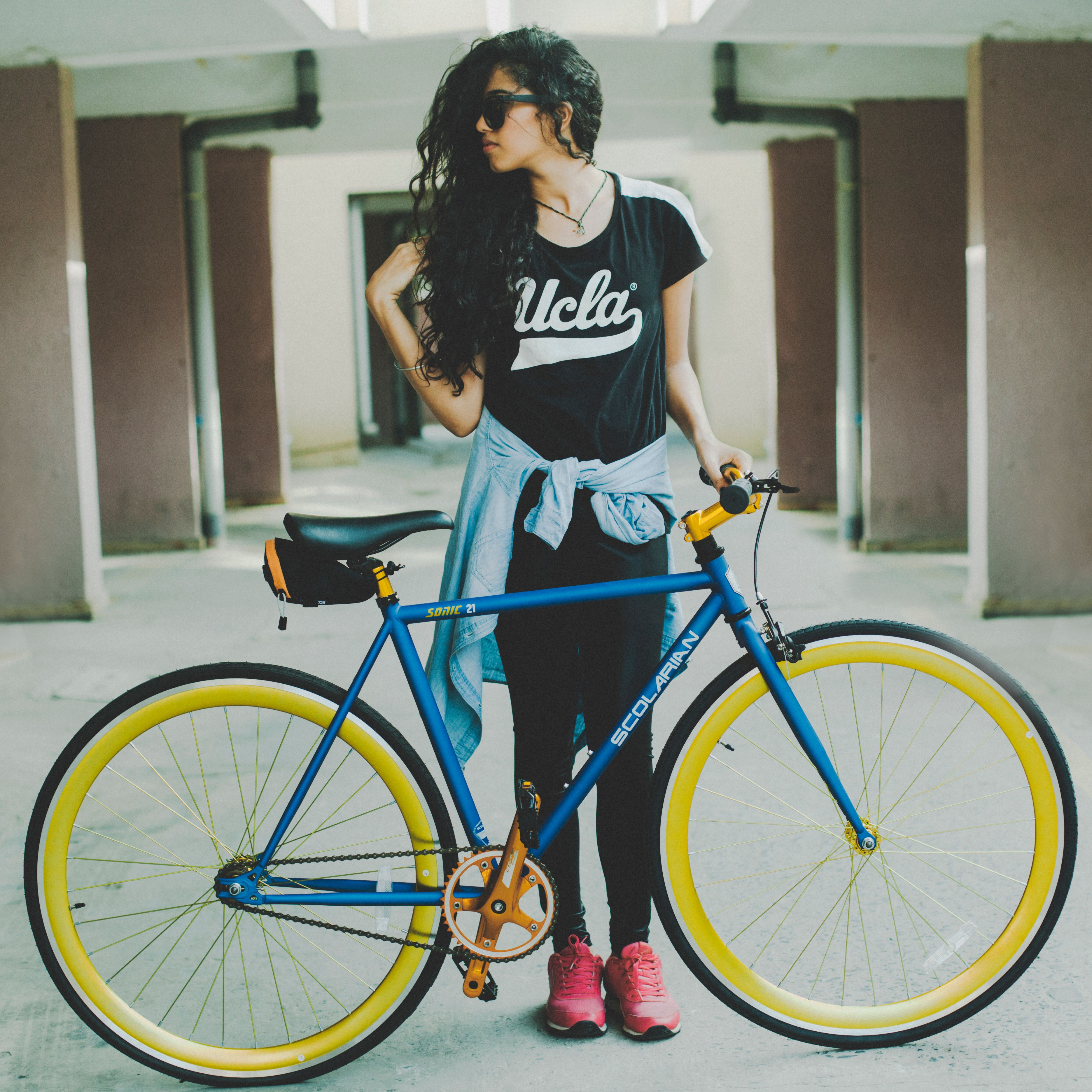 Scolarian Sonic 21 Bicycle Women Single Speed Bike Cycling Girls