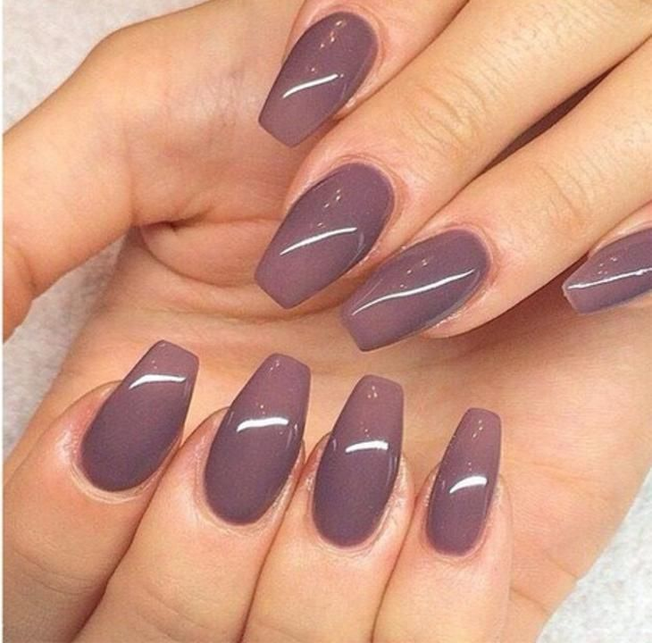 Fall Nails - Matte Burgundy Coffin Nails | Fall Nails | Pinterest ...