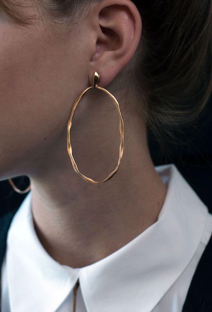 Bronze Ryman Hoop earrings.