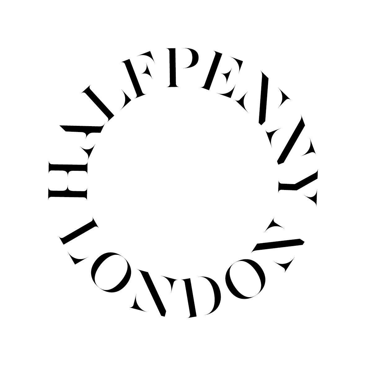 Halfpenny Logo designed by Kimmy & Co. The bridal designer is a combination of cool and vintage. The symbol reflects the wedding ring and the eternity of love represented by the circle. The typeface reflects the classic and the cool.
