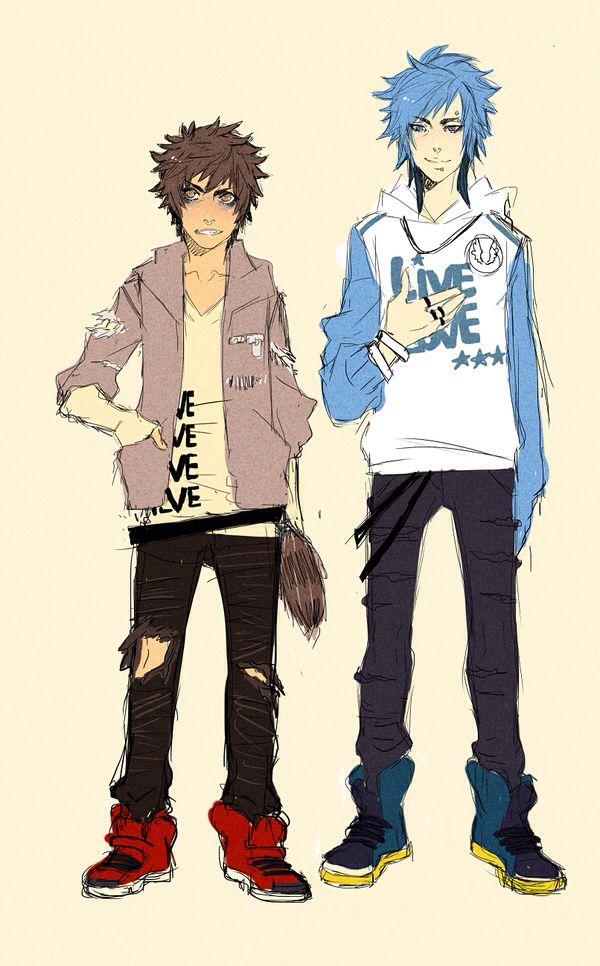 Rigby And Mordecai As Humans Regular Show Anime Regular Show