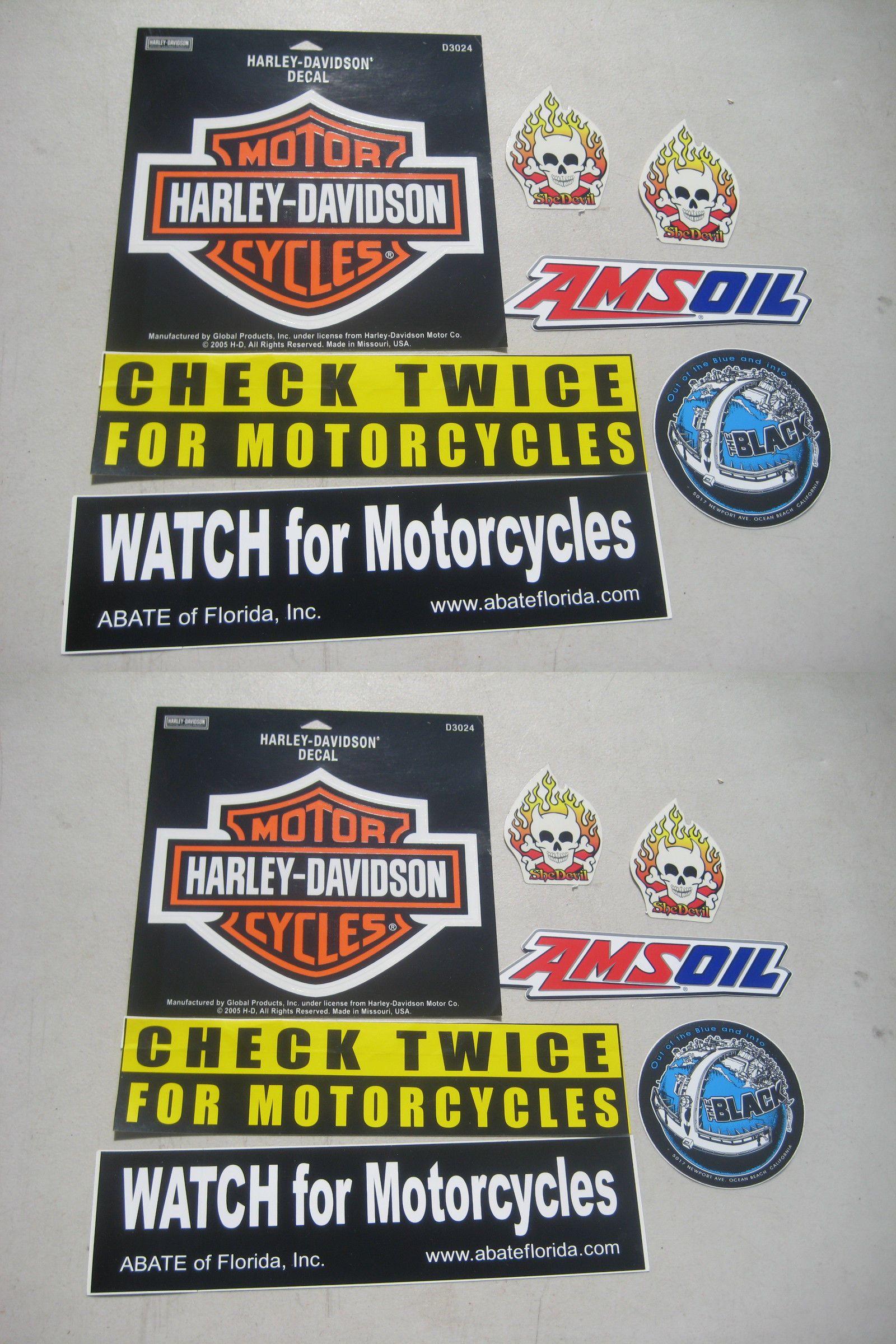 Motorcycles Harley Davidson Motorcycle Stickers Decals Lot - Harley davidsons motorcycles stickers