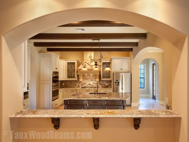 Wood beam ceiling ideas chamfered wood portfolio for Decorative beams in kitchen