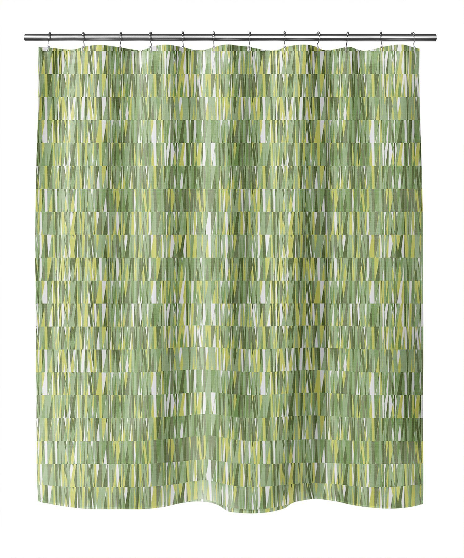 Photo of WEXLER GEO GREEN Shower Curtain By Becky Bailey – 70in x 72in