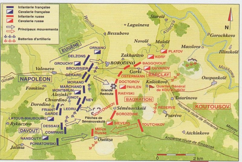 BATTLE LINES BORODINO 1812 | Napoleonic Wars (1795-1815) | Battle of