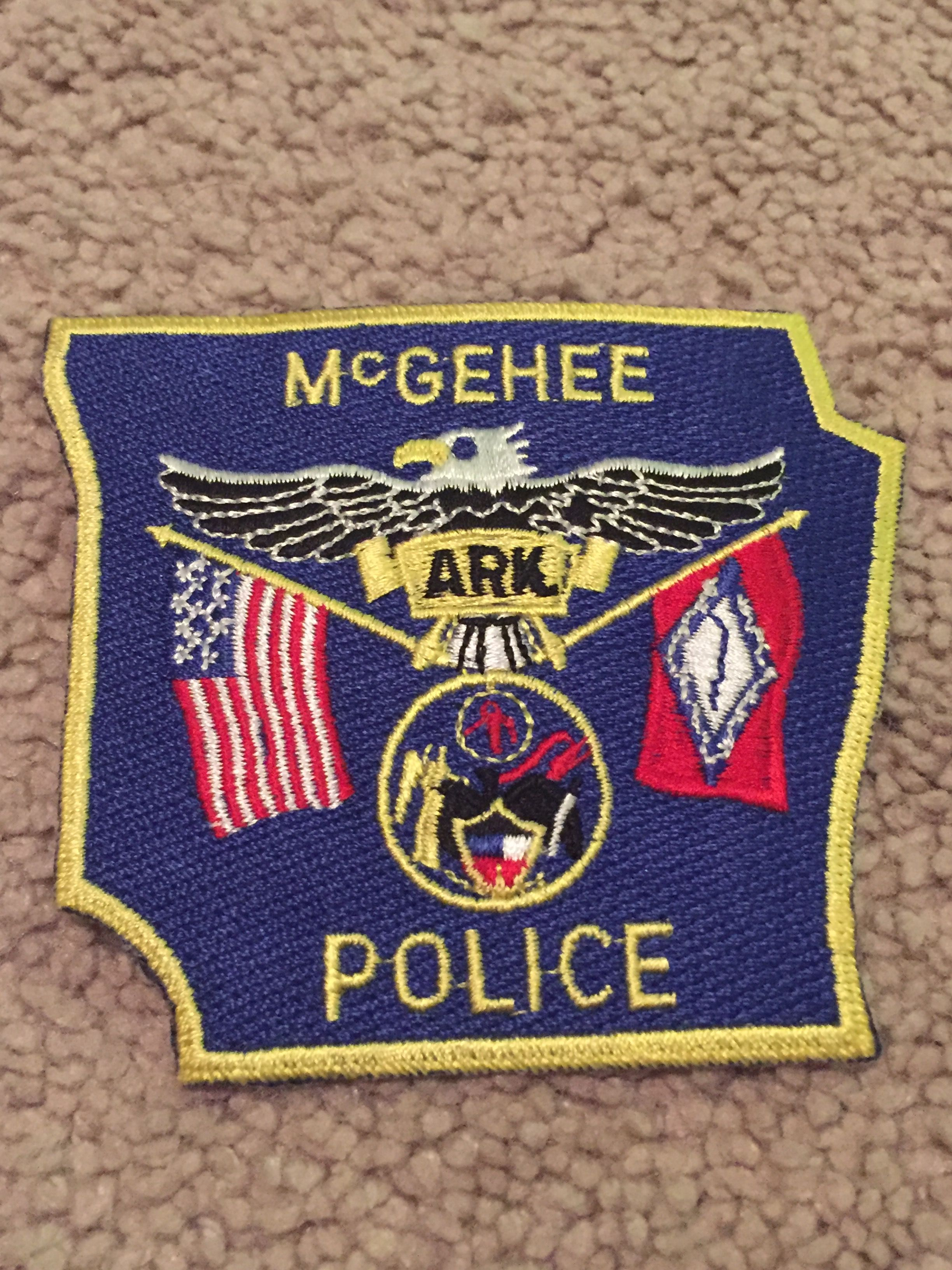 McGehee PD Police patches, Mississippi, Louisiana