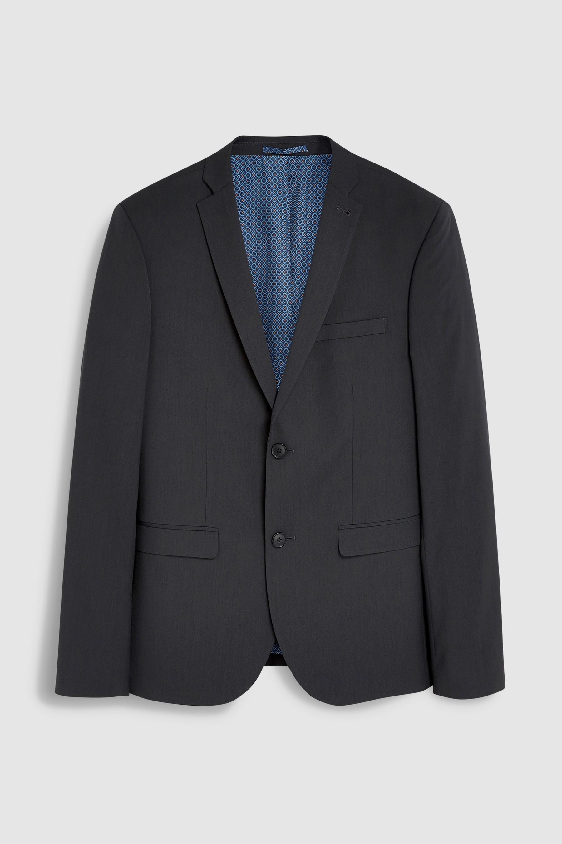 6af130b664f Mens Next Charcoal Super Skinny Fit Stretch Tonic Suit  Jacket - Grey