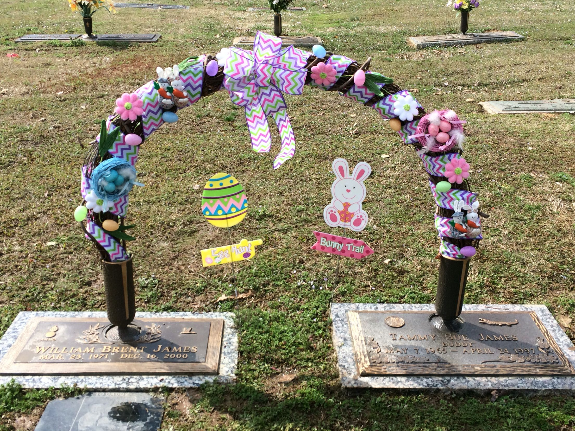 Easter 2015 Cemetery Decorations Grave Decorations Funeral Flower Arrangements