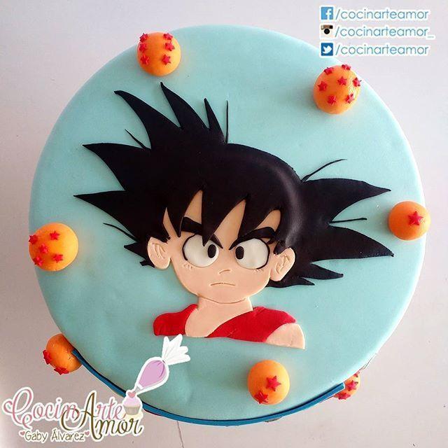 pastel para cumpleaos gok y las esferas del dragn pastry fondantcake