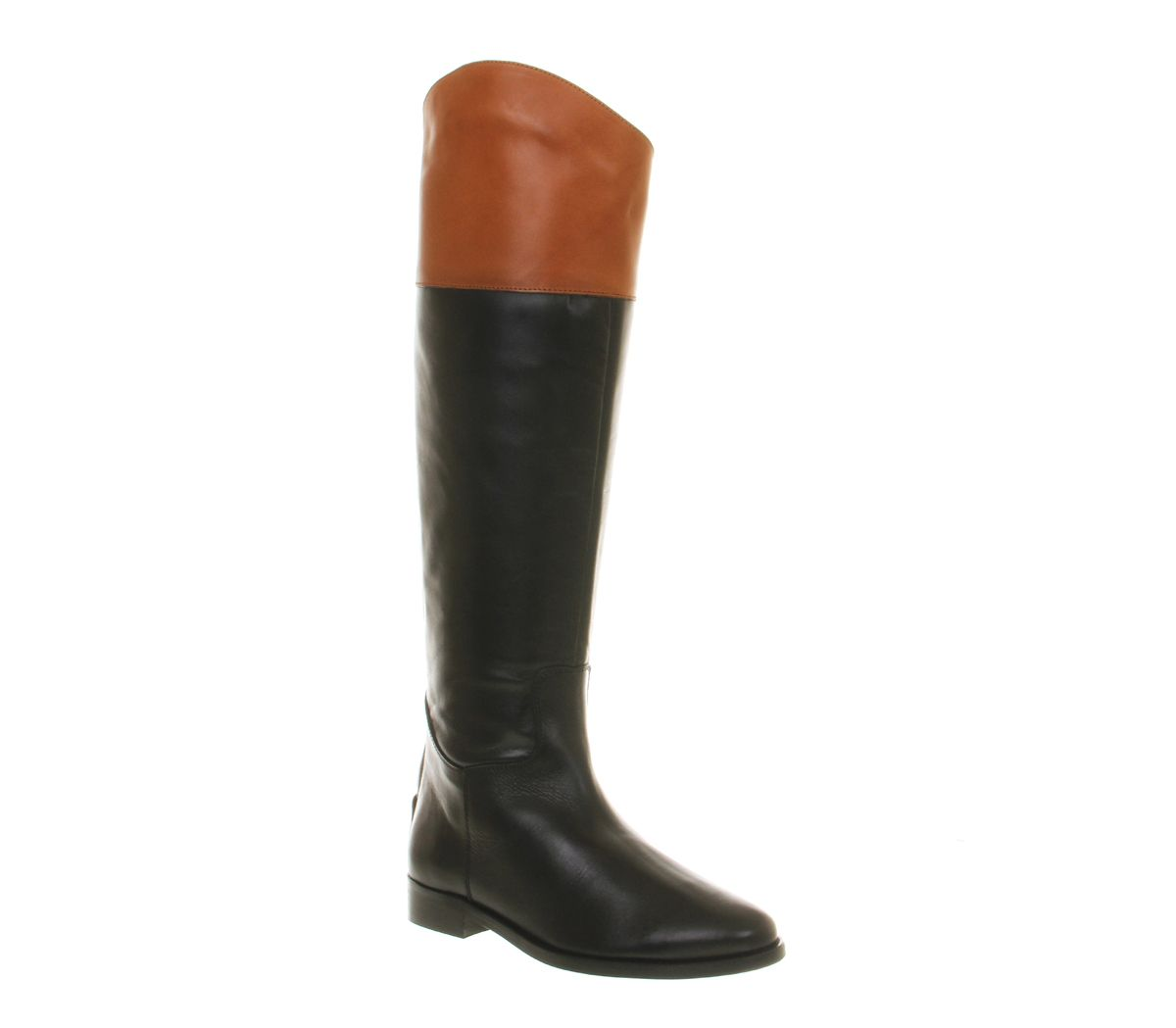 office all out riding boot black tan leather knee boots fashion