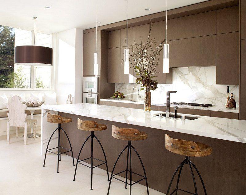 Coin repas cuisine - astuces du0027aménagement et photos cool Kitchen - cuisine avec ilot central et table