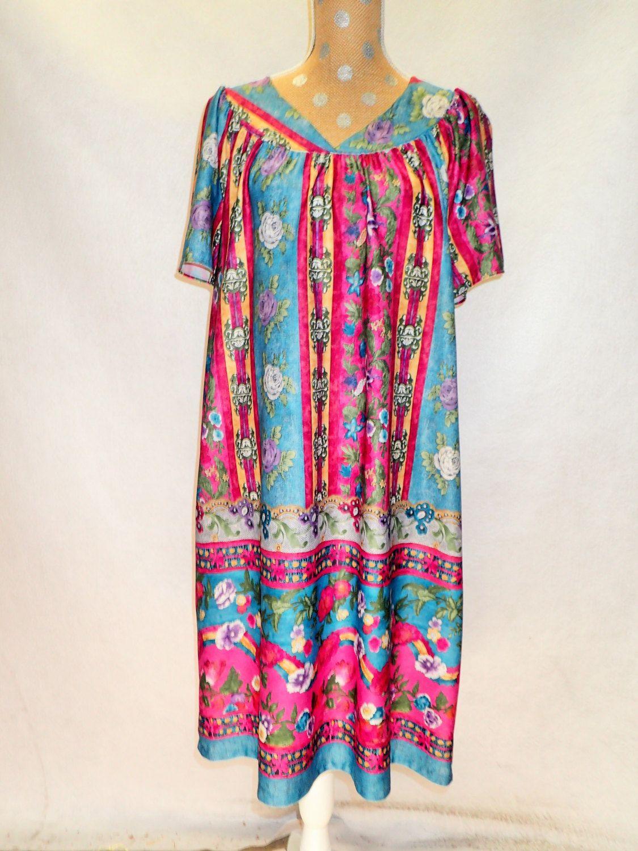 70\'s Vintage Womens Light Moo Moo Tunic Dress - GRANADA 40 years ...