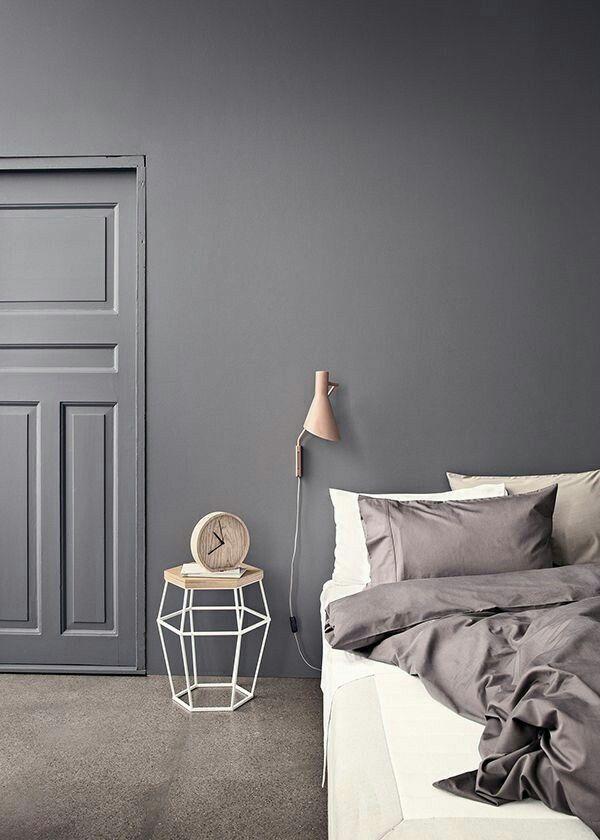 grå färg sovrum