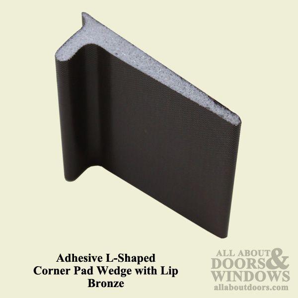 Endura Adhesive L Shaped Corner Pad Wedge With Lip